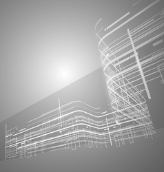 Abstract technology black and white background vector
