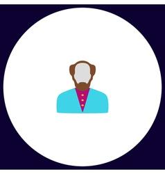 Bald Man computer symbol vector image vector image