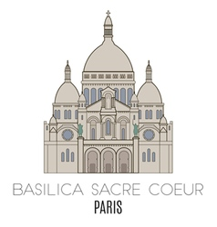 Basilica sacre coeur paris vector