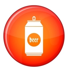 Beer in aluminum cans icon flat style vector