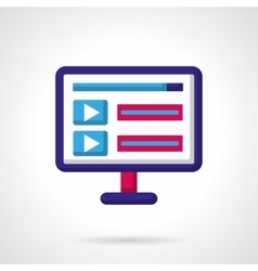 Blue and pink icon for video vector image