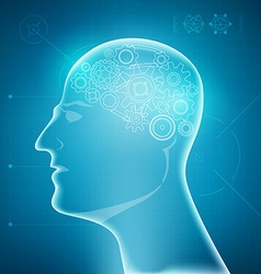 brain preview vector image vector image