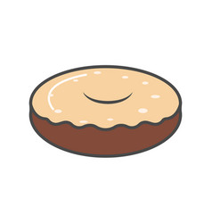 chocolate donut isolated icon vector image vector image