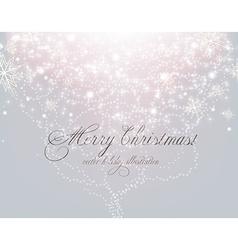 Elegant white christmas background vector