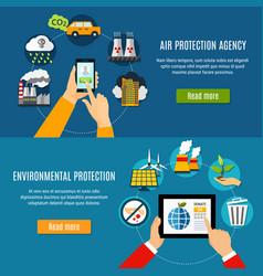 Environmental protection banners set vector