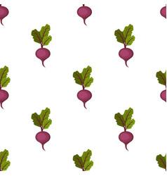 fresh organic purple sweet beet seamless pattern vector image vector image