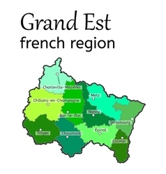 Grand est french region map vector