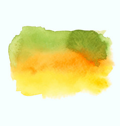 green and yellow watercolor gradient banner vector image