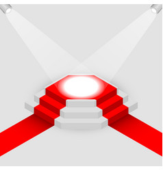 Illuminated square podium isometric vector
