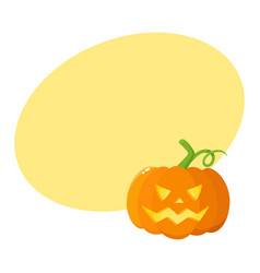 jack o lantern pumpkin with carved scary face vector image vector image