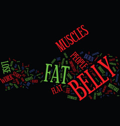 Lose belly fat now text background word cloud vector