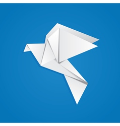 Origami pigeon vector image vector image