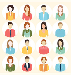 people flat icons collection vector image vector image
