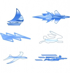 speed icon set vector image