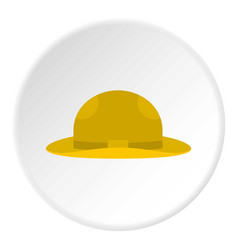 Summer hat icon circle vector
