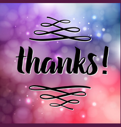 thank you phrase for social media vector image vector image