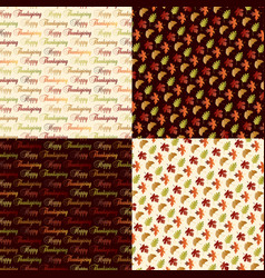 thanksgiving patterns vector image vector image
