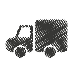Truck construction vehicle icon vector