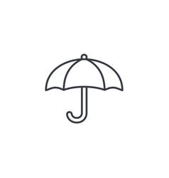 Umbrella protection thin line icon linear vector