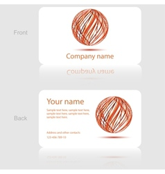 White business card with abstract circle vector image