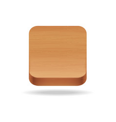 Wooden app icon on the white background vector