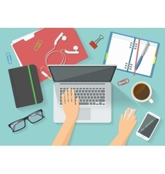 Workspace top view composition vector