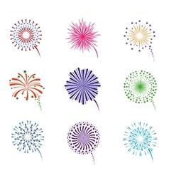 Fireworks display set vector image