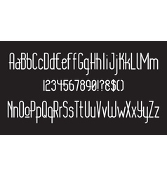 Rounded thin font 01 vector