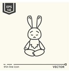 Meditative animals series - hare vector