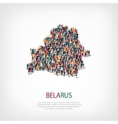 People map country belarus vector