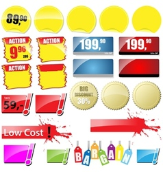 Retail sales tags vector