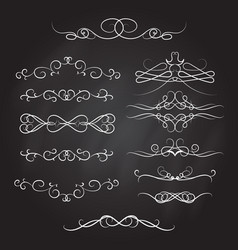 Vintage calligraphic vignettes and dividers set vector