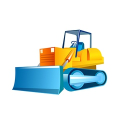 Icon bulldozer vector