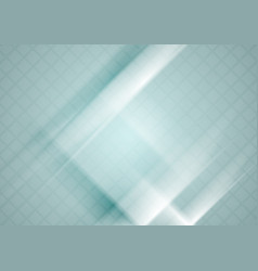 Blue tech geometric background with squares vector