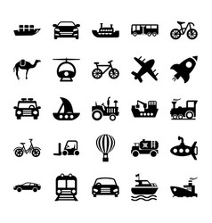 Automobile glyph icons 2 vector
