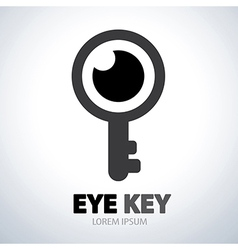 Eye key symbol icon vector