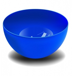 Plastic bowl vector