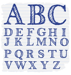 Hand drawn decorative english alphabet letters vector