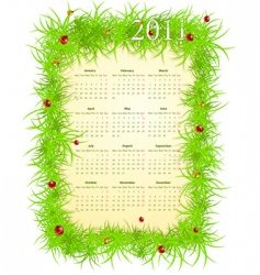 spring 2011 calendar vector image