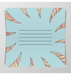 Notebook cover with place for your text vector