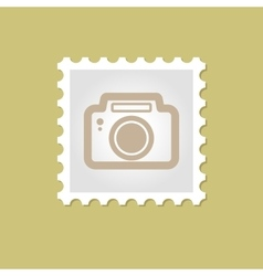 Photo camera stamp vector