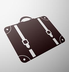 Emblem suitcase Stock vector image