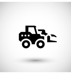 Hay loader tractor icon vector