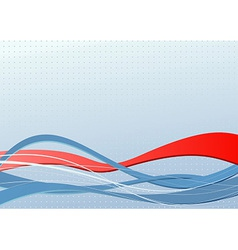 Abstract banner with red wave vector