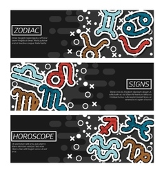 Banners about zodiac vector