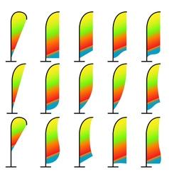 beach flag vector image vector image