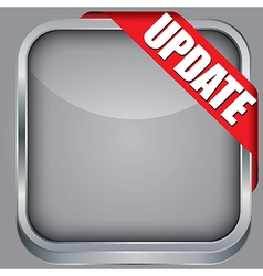 Blank app icon with update ribbon vector