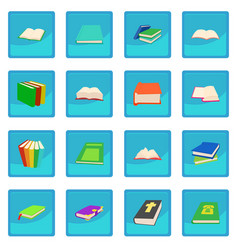 book icon blue app vector image