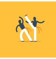 Capoeira sport game vector