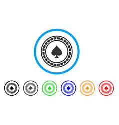 Casino roulette icon vector